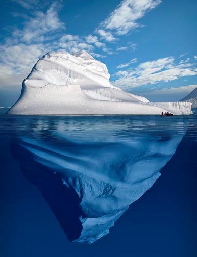 iceberg relacion con la vida